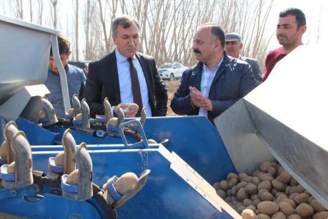 Alternatif Ürün Yetiştiriciliği Projesi Kapsamında Patates Ekimleri Başladı.