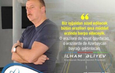 AZERBAYCAN LİDERİ'NDEN KARARLILIK MESAJI