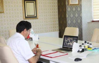 Rektör Alma 'Yükseköğretimde Dijital Dönüşüm Online İmza Törenine'
