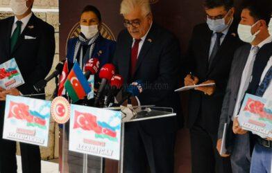 TÜRKİYE-AZERBAYCAN DOSTLUK GURUBUNDAN ERMENİ DEVLET TERÖRÜNE TEPKİ