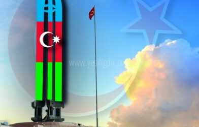 Kılıçlar Azerbaycan Bayrağı İle Işıklandırılsın