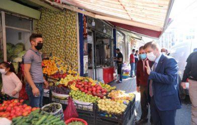 Vali/Belediye Başkanı Sarıibrahim, Kovid-19 Denetimlerinde