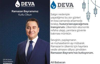 DEVA PARTİSİ GENEL BAŞKANI ALİ BABACAN'DAN BAYRAM MESAJI
